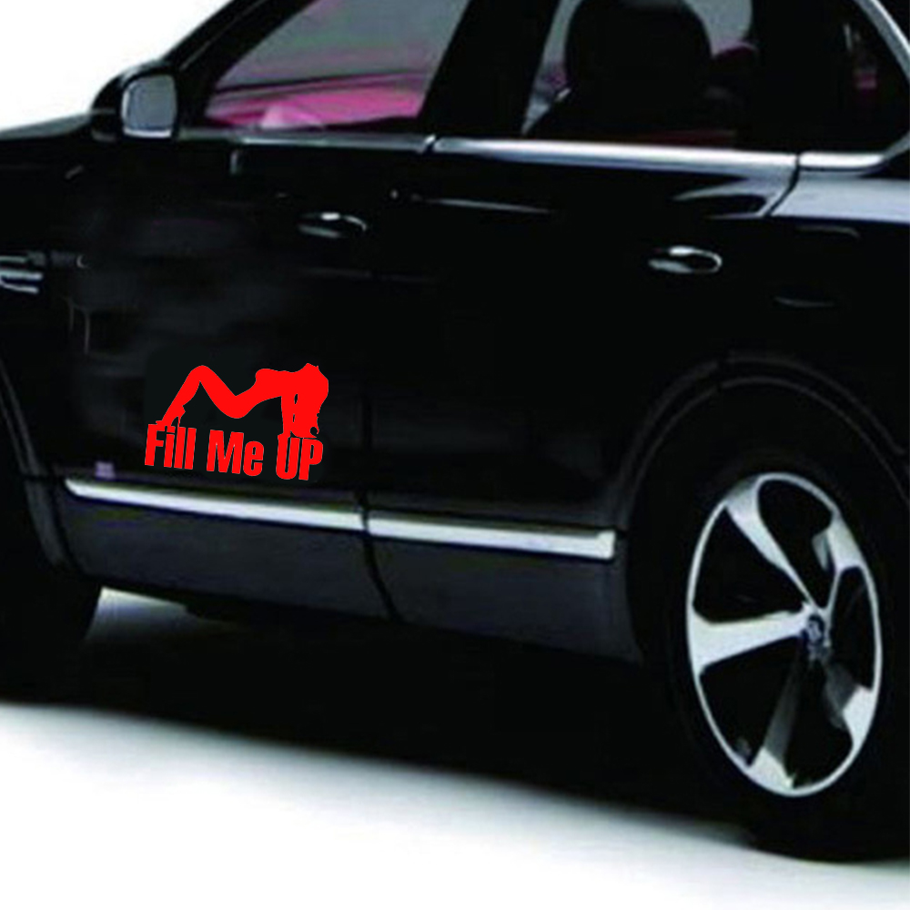 Fill Me Up Tank Stickers English Stickers Refueling Cover Sticker To Help Me Fill Up The Tank Cover Reflective Stickers For Man