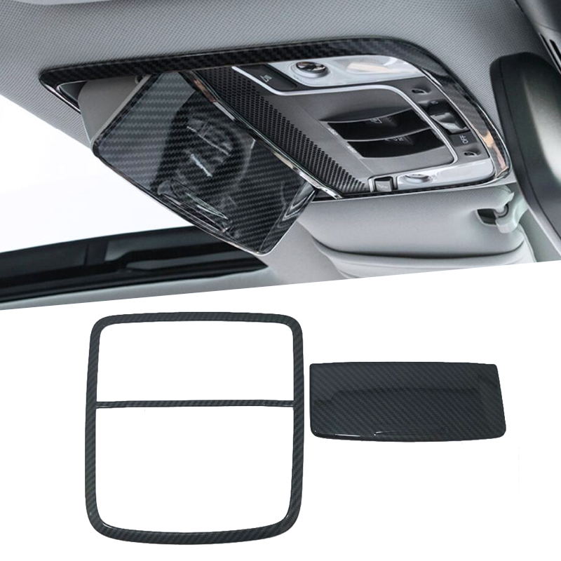 ABS Chrome Car Front Rear Reading Light Lamp Decoration Trim Frame Cover Interior Moulding For <font><b>Honda</b></font> <font><b>Accord</b></font> <font><b>2018</b></font> <font><b>Accessories</b></font> image