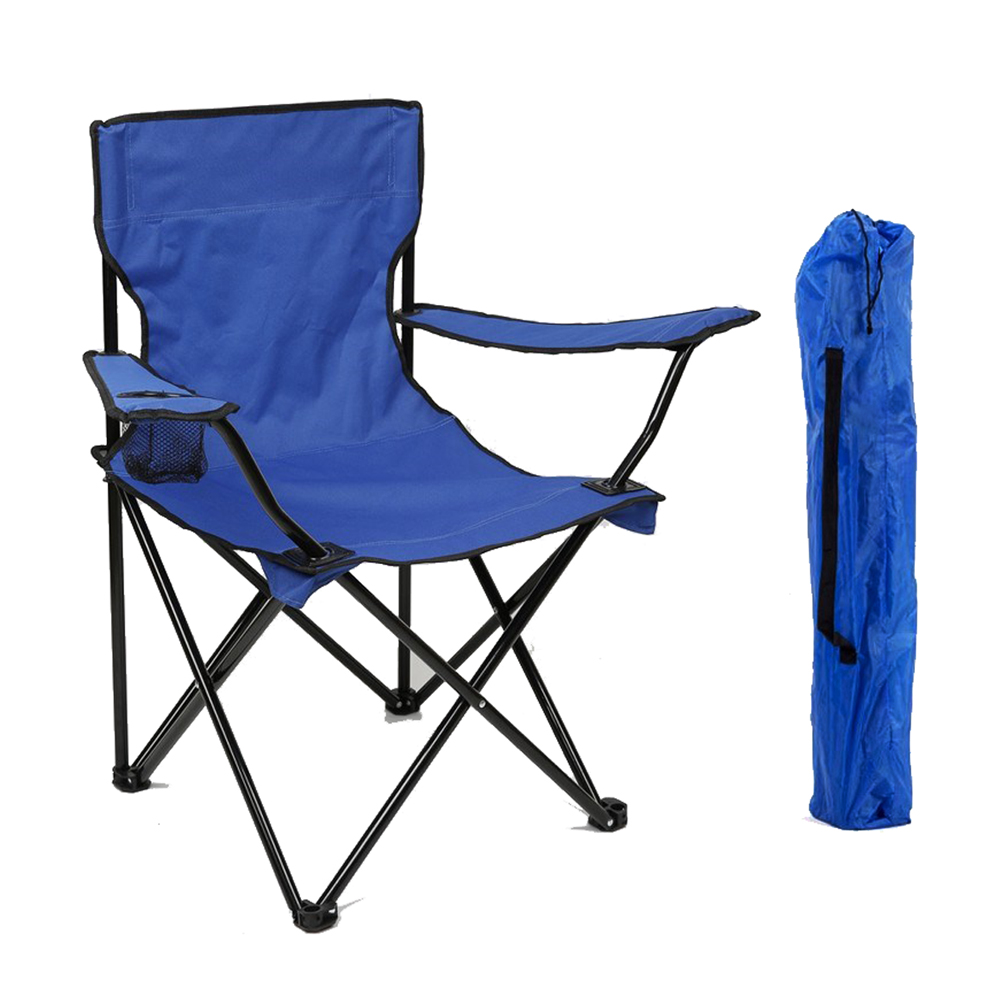 HooRu Lightweight Deck Chair Backrest Beach Folding Armrest Chair Outdoor Backpacking Camping Portable Chairs for Picnic Fishing