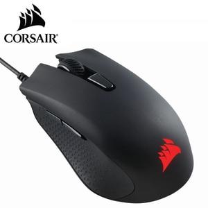 Проводная игровая мышь CORSAIR HARPOON RGB PRO, черная оптическая мышь с RGB подсветкой 12000 DPI