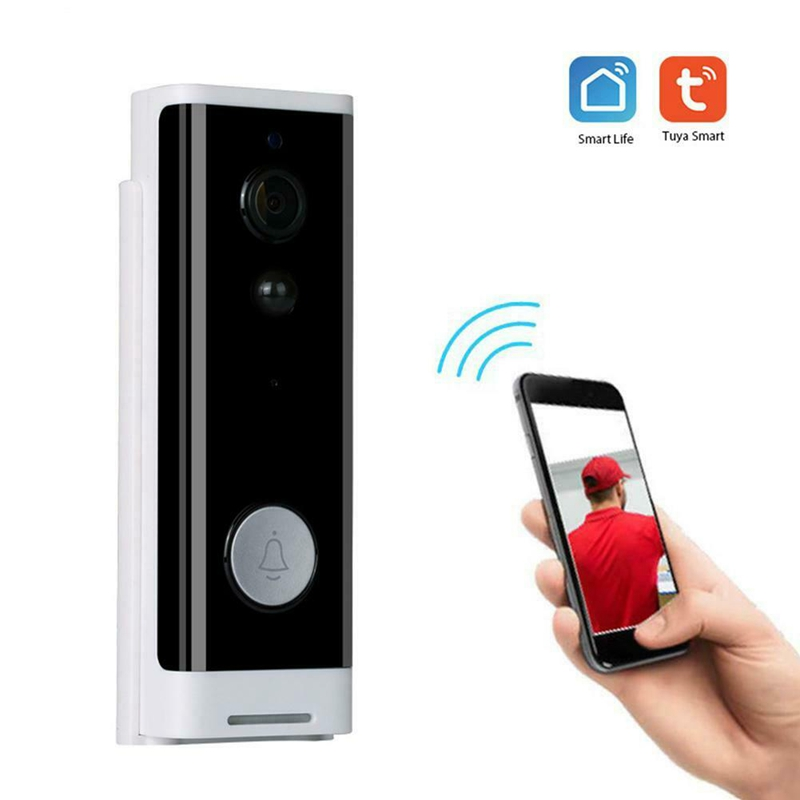 1080P WiFi HD Wireless PIR Monitor 2-Way Intercom Camera Video Doorbell Work With Tuya Smart Life Door Bell