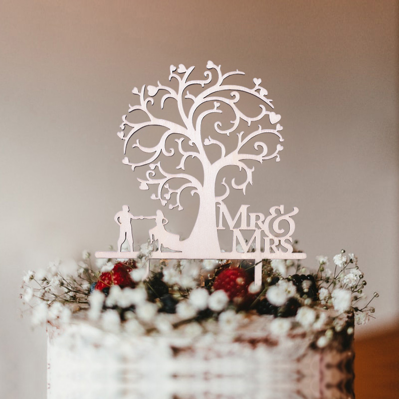 para decoraci/ón de tartas con una sola letra personalizado Adorno para tarta con monograma de boda