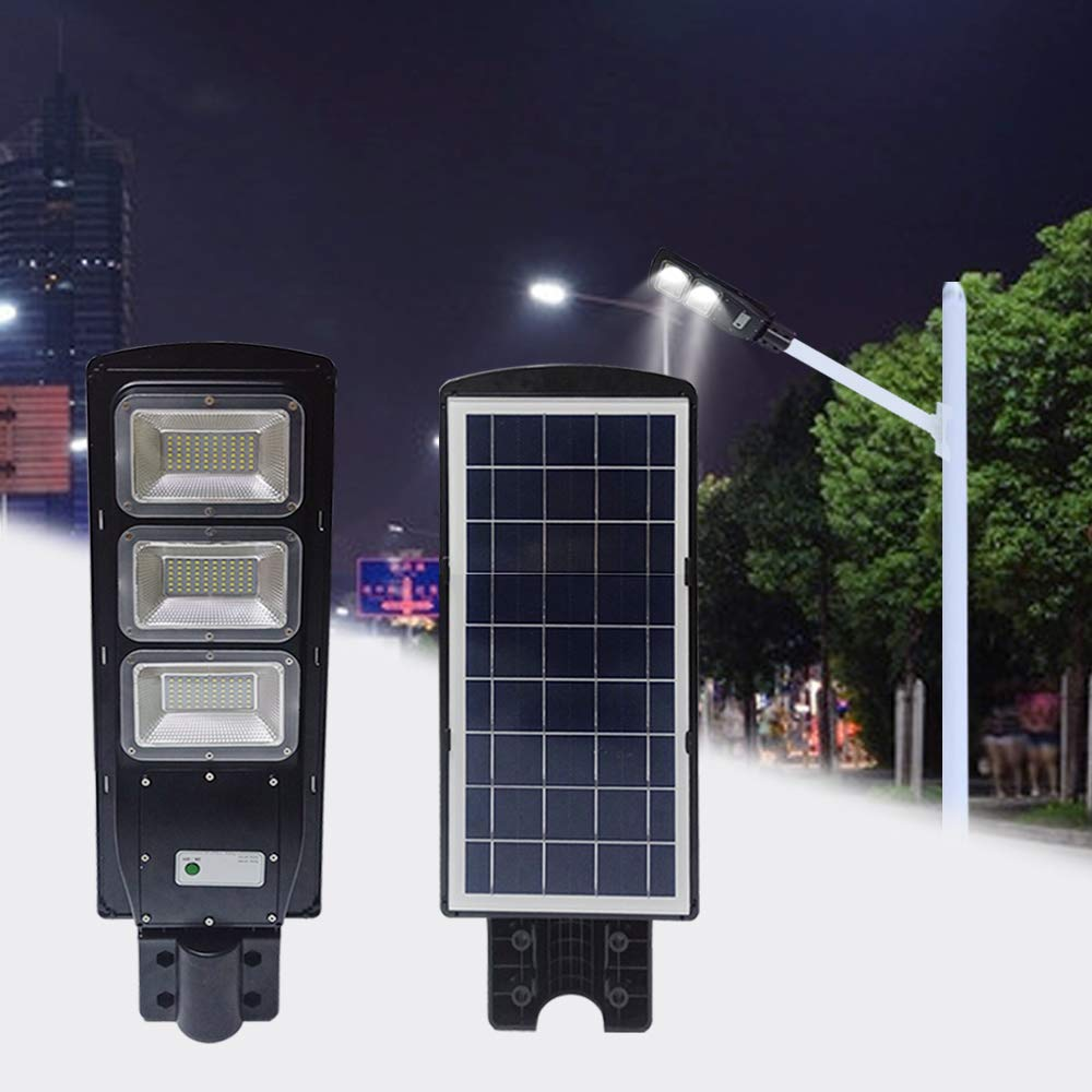 20W 40W 60W Solar Street Light 15000mAH PIR Motion Sensor Waterproof LED Street Lamp Parking Lot Lights For Garage Patio Garden