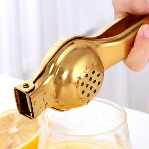 1PC Stainless steel Lemon Squeezer Golden Manual Fruit Juicer Household Orange Clip Kitchen Utensils Reamers Fast Handle Press