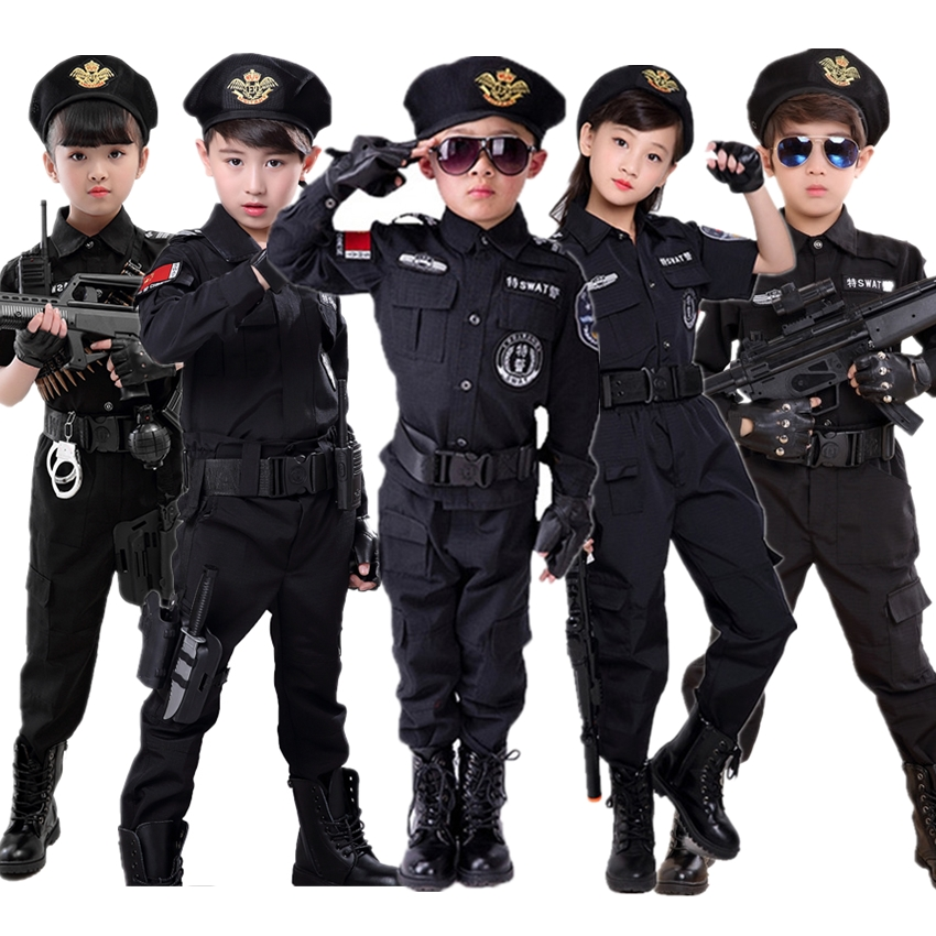 Boy's Carnival Police Costumes Children Halloween Party Cosplay Clothing Children's Day Special Policeman Uniform For Kids