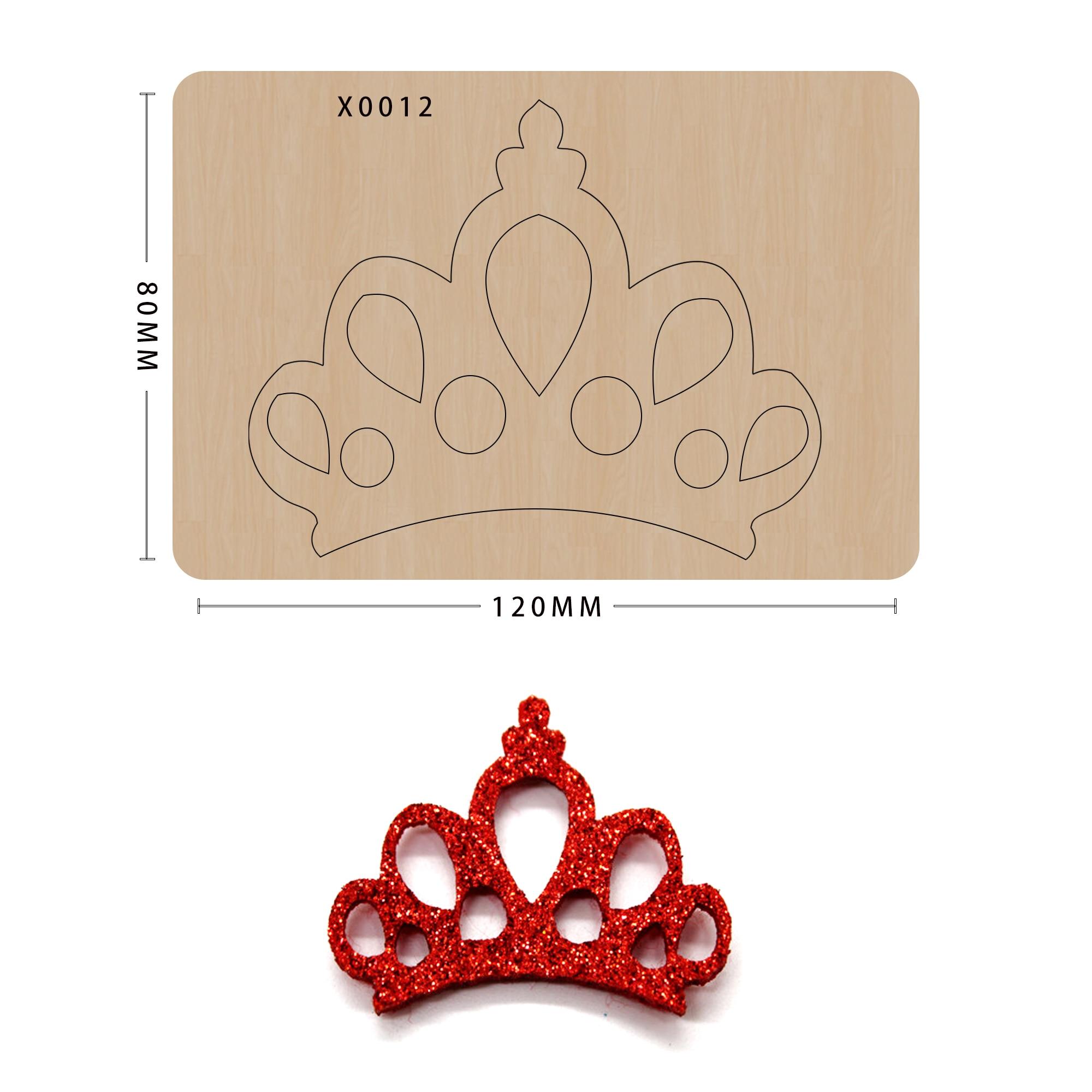 Coroa corte de madeiras scrapbook de madeira corte flor moldes de madeira morrer fazendo decoração suprimentos dados