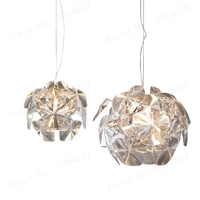 LED Arylic Dream Apple Pineal Hope Pendant Crystal Lights Brief Light Leaves Laser Lamp Originality Hanging Lamp E27 DIY