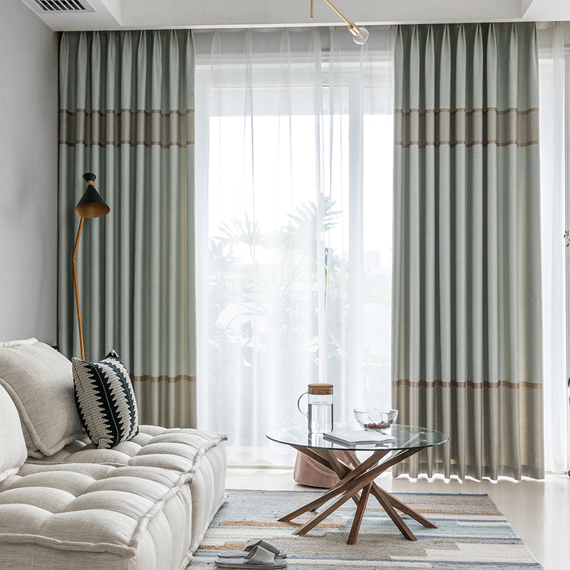 New Products 2020 Striped Blackout Curtains For The Bedroom Office Decoration Modern Window Curtain Living Room Gold Drapes