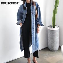 Women Clothes 2019 Korean Clothes Long Loose Vintage Coats Overcoat ladies Trench