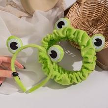 Funny Frog Makeup Headband Wide-brimmed Elastic Hairbands Cute Girls Hair Bands Women Hair Accessories Girls Hairband