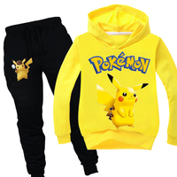 3 14T Big Boys Clothing Suit Anime Pokemon Go Tracksuit Kids Detective Pikachu Hoodie Pants 2pcs Sets Baby Girl Christmas Outfit