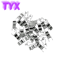 20Pcs Fuse Clip Brass Plated Tin Fuse Holder Clip Fuse tube support for 5x20 mm 6x30mm Glass Ceramic Tube Quick Fuse Insurance