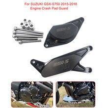 Motocicleta CNC GSX-S750 Guarda Motor Bater Pad Slider Quadro Protector Para SUZUKI 2015 2016 2017 2018 2019 750 GSX GSX-S S750