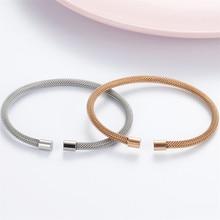Высокое качество нержавеющая сталь серебро розовое золото цвет 3,5 мм ширина змея цепь браслет для женщин Браслеты Ювелирные изделия Подарки