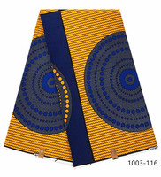 Wholesale 100% cotton veritable dutch Ankara wax fabric high quality guaranteed dutch wax prints fabric African for dress 1003