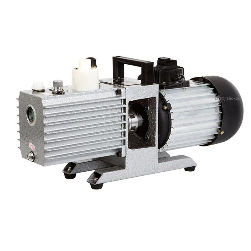 1400rpm pompe à vide à palettes rotatives laboratoire à deux étages 2XZ-8 petit pompage largement utilisé pompe à vide de compteur d'huile visuelle 1100W 220/380V
