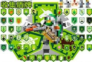 Image 4 - Nexoe рыцаря, редкие щиты, модель, строительные блоки, замок, воин, Nexus, сканируемые игровые игрушки для детей