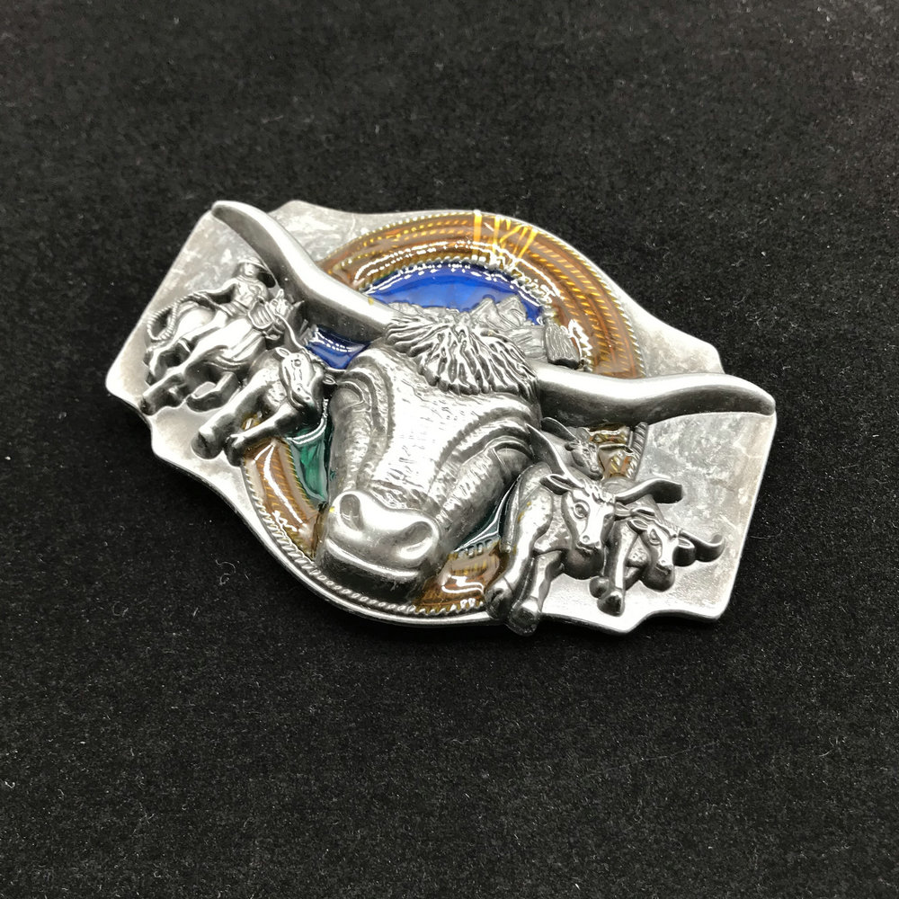 Western Cowboy Matador Zinc Alloy Belt Buckle Men's Popular Belt Accessories