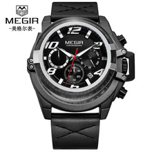 Top Brand Luxury Mens Watches Men Military Sport Wristwatch Leather Quartz Calendar Chronograph Watch