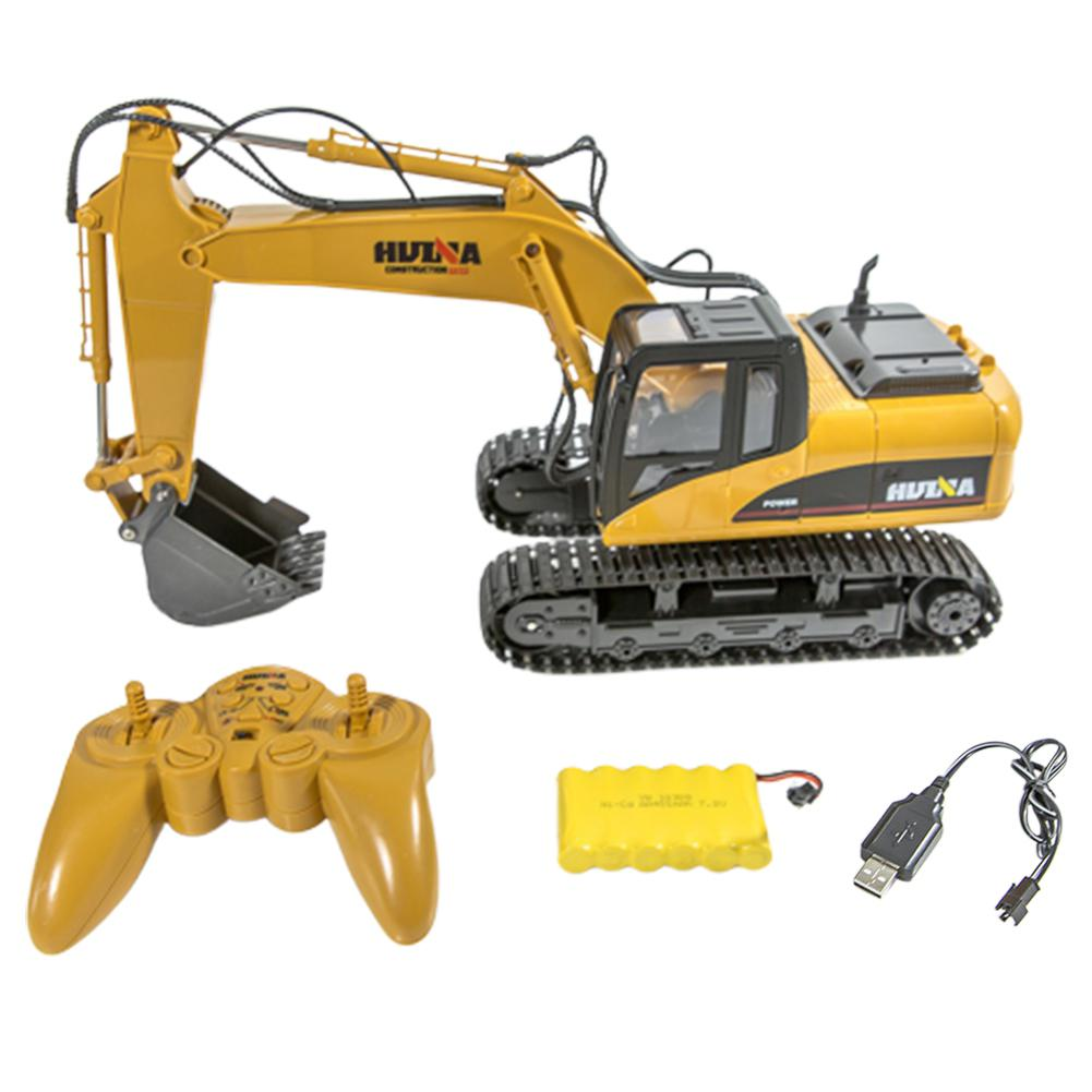 RCtown HuiNa Toys 1550 15Channel 2.4G 1/14 RC Car 680 Degree Rotation Metal Excavator Cool Sound/Light Effect Truck