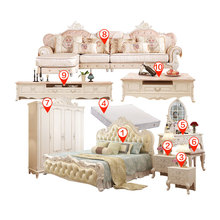 Furniture set combination of the whole house furniture European-style bed wardrobe bedroom