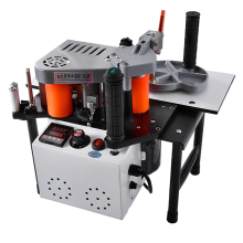 SC-40 Edge Banding Machine Portable Wood PVC Two-sided Gluing Edge Bander with Tray & Cut Adjustable Speed 110/200V 1200W 1000ml