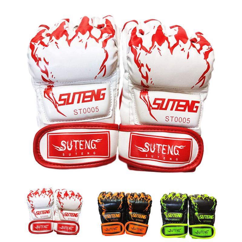 2pcs Half Finger Boxing Gloves Tiger Claw MMA Integrated Fighting Boxing Sanda Kickboxing Muay Thai Training Glove for Men Women