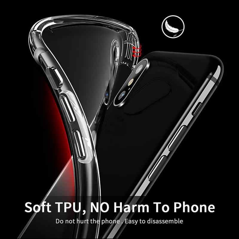 Slim סיליקון מגן כיסוי אנטי-סתיו רך פגז מקרה טלפון מקרה עבור iPhone XS Max XR X 8/ 7/6/6 S/S/בתוספת/5/5S/SE