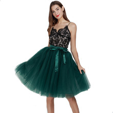 5 couches 65cm Midi Tulle Jupe princesse plissée danse Tutu jupes femmes Lolita jupon Jupe Saia faldas Denim jupes de fête