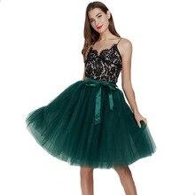 Falda de tul de 5 capas para mujer, Falda plisada de princesa, 65cm, falda con tutú de baile, estilo Lolita, Jupe, Saia