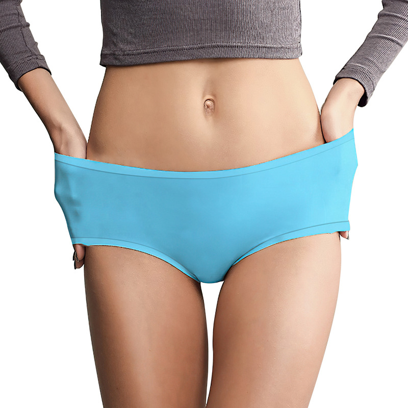New Style Silica Gel WOMEN'S Swimming Trunks Four Grade Surprise Swimming Antibacterial Waterproof Underwear Triangular Swimming