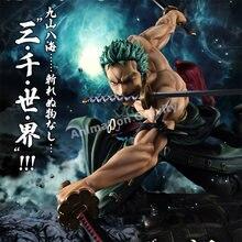 Figura de Anime de One Piece, Roronoa Zoro de Nuevo Mundo, tres mil Acura del mundo, modelo de figura de acción de PVC, regalos de cumpleaños