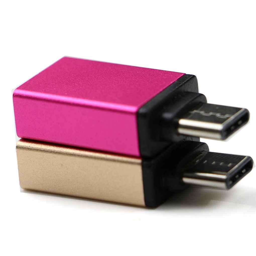 Elenxs USB-C tipo C macho a USB 3,0 hembra OTG Mini adaptador de datos convertidor ordenador conector