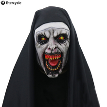 Conjuring 2 Horror Female ghost mask Halloween Scary nun cosplay Masquerade Adult party masks Prop