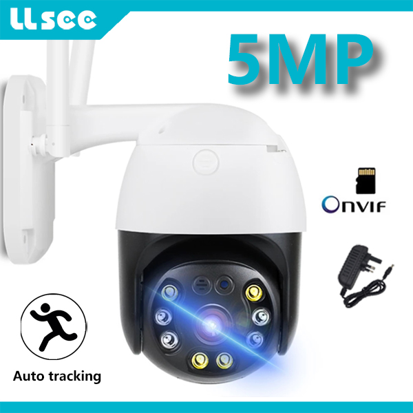 LLSEE-Outdoor WIFI Security Automatic Tracking and Monitoring HD PTZ Human Alarm High Speed Dome Two-way Audio H.265 IP Camera