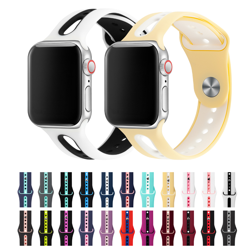 Watch Band For Apple Watch Band 42mm 38mm 44mm 40mm Strap Silicone Iwatch Bands For Apple Watch Series4/3/2/1 Iwatch Accessory