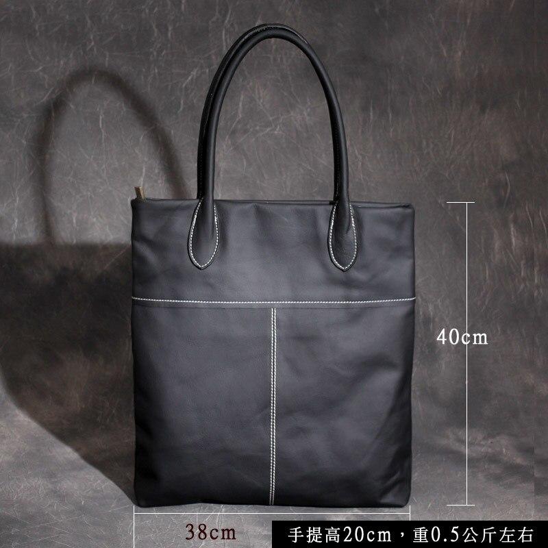 Vaca genuína bolsa de couro das senhoras inverno bolsas de couro das mulheres grande feminino bolsa de ombro preto sacos de mão para as mulheres 2019 - 3