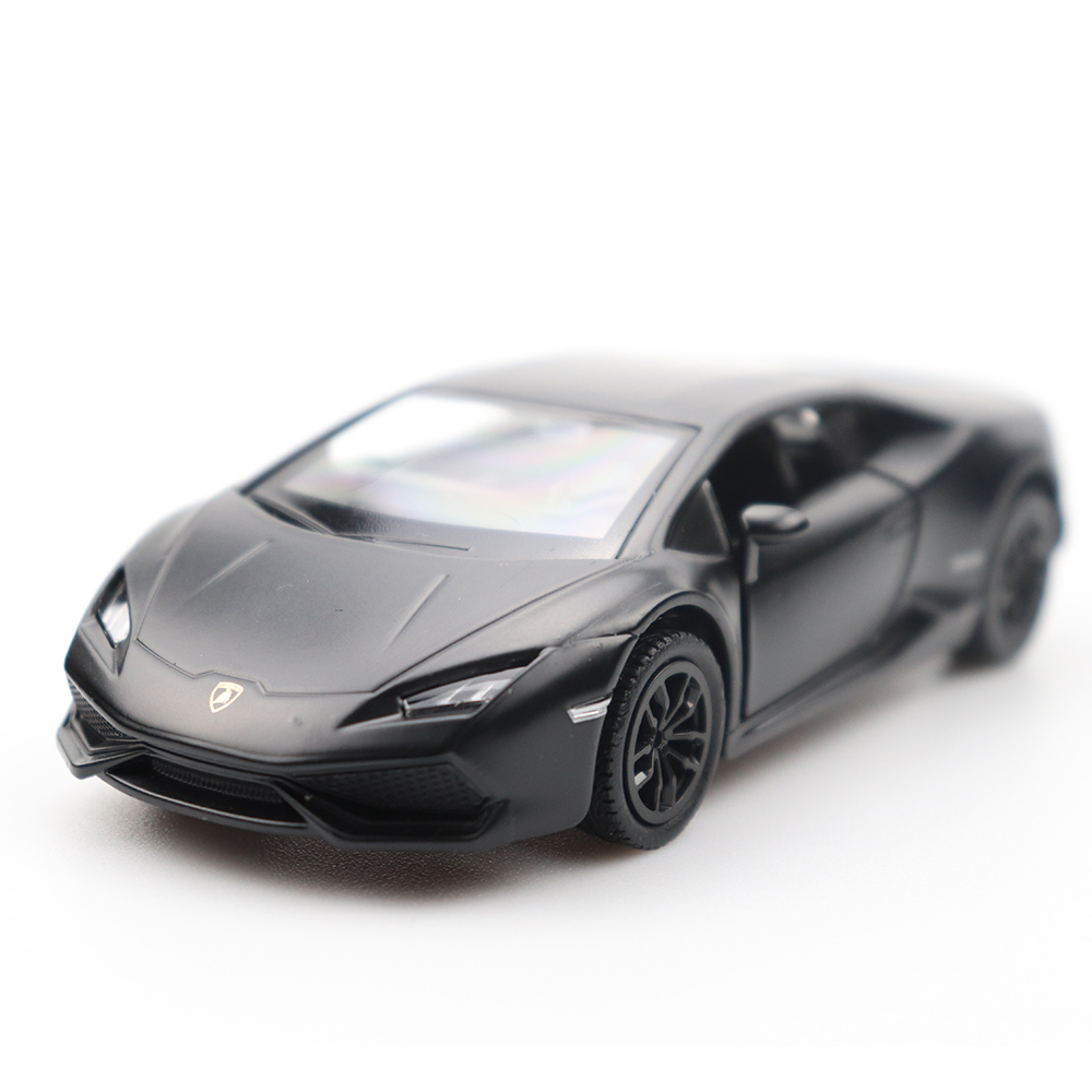 1/32 Doors-open Huracan Evo Car Black High Simulation Alloy Diecast Car Model Pull Back Sound Light Collection For Gifts