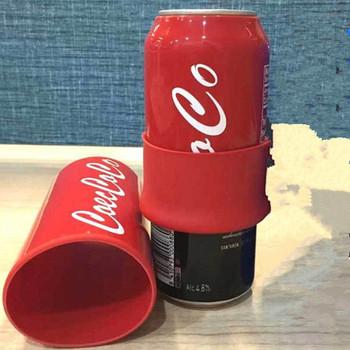 355 500ml ukryj puszka piwa pokrywa Cola piwa butelka przykrywka do kubka rękaw pokrowca może butelka uchwyt torba termiczna na Camping Travel Hiking tanie i dobre opinie CN (pochodzenie) Silicone Pokrowce na butelki
