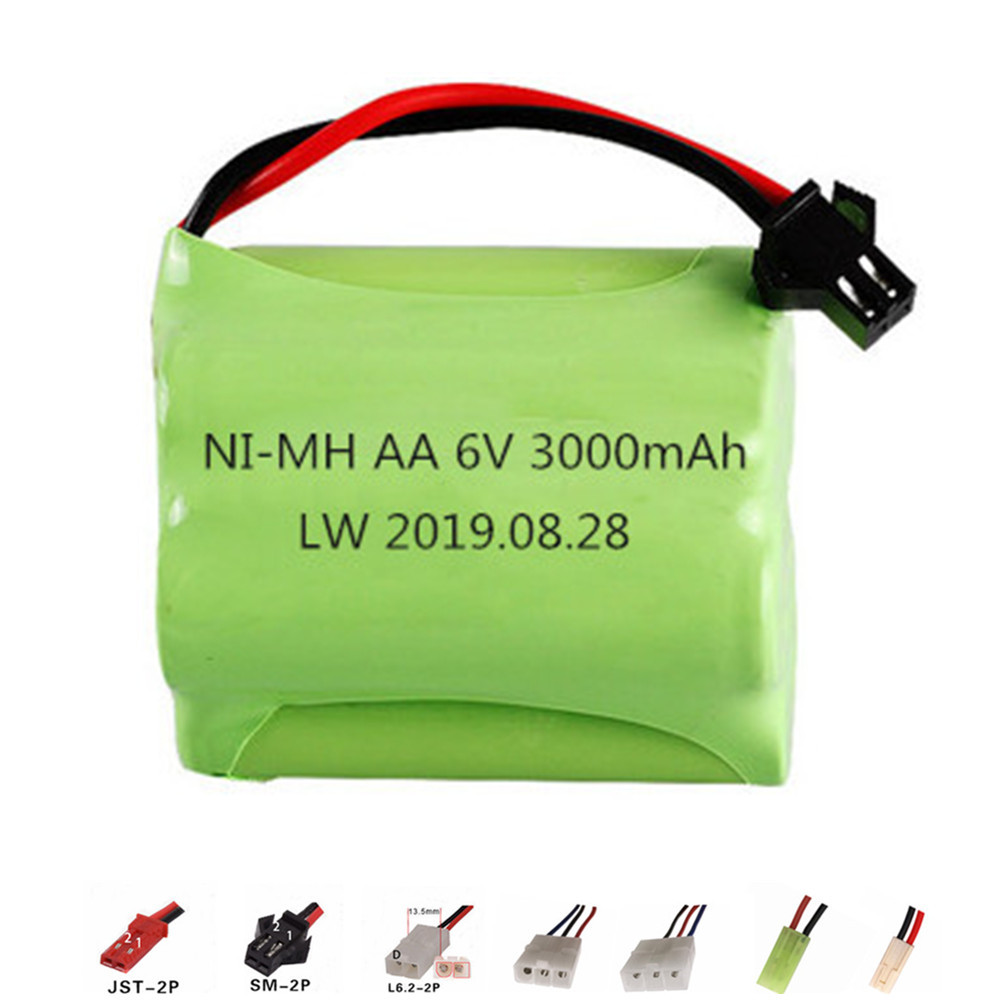 Upgrade 6v 3000mah NiMH Battery For Rc Toys Cars Tanks Robots Guns Boats AA Ni-MH 2400mah 6v Rechargeable Battery Pack 1PCS