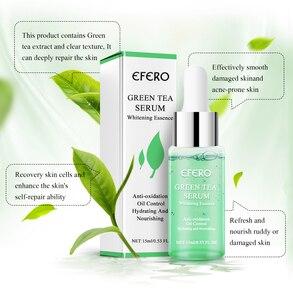 Image 2 - Efero緑茶血清美白顔クリームシュリンク毛穴削除にきび保湿フェイス明るくスキンケア顔血清