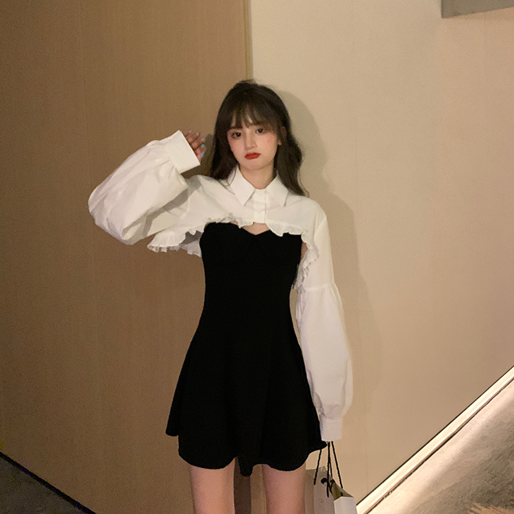 Elegant Party Dress Women Long Sleeve Sweet Empire High Street Mini Dress Gothic Y2k Dress Korean Autumn 2020 Female Outfits