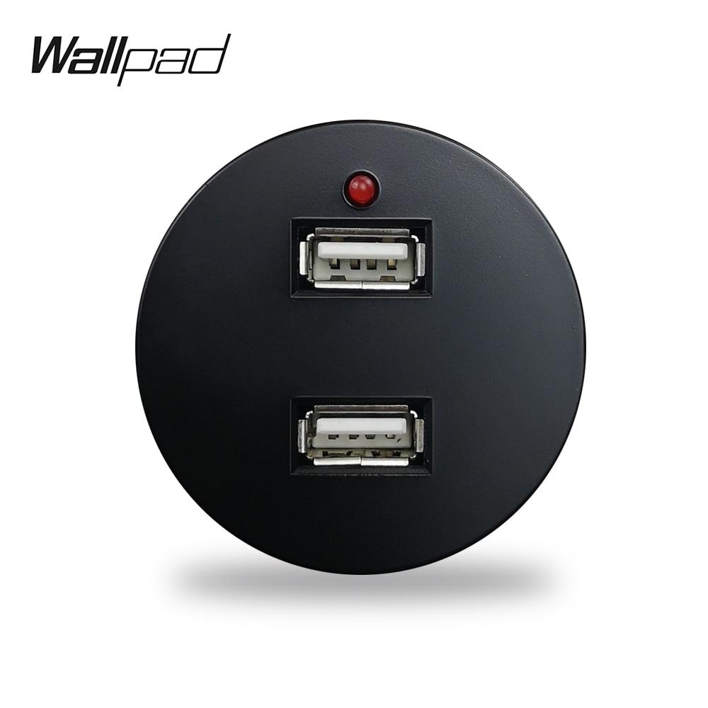 Wallpad L6 4 Colors 2.4A Double USB Charging Port Wall Socket Module Match L6 Plates Free Combination DIY
