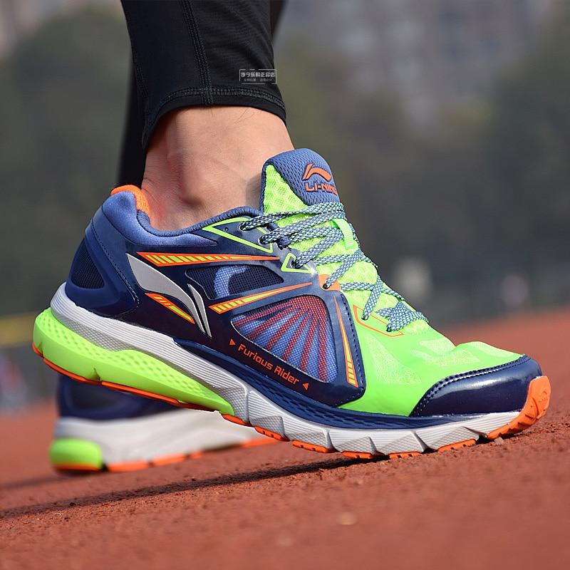 Li Ning Men's Smart Running Shoes FURIOUS RIDER TUFF OS Stability Sneakers PROBARLOC LiNing Sports Shoes ARHL043 SAMJ17-in Running Shoes from Sports & Entertainment    1