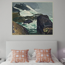 Citon George Bellows《Rock Bound,1913》Canvas Oil Painting Ash Can School Artwork Poster Picture Wall Decor Modern Home Decoration