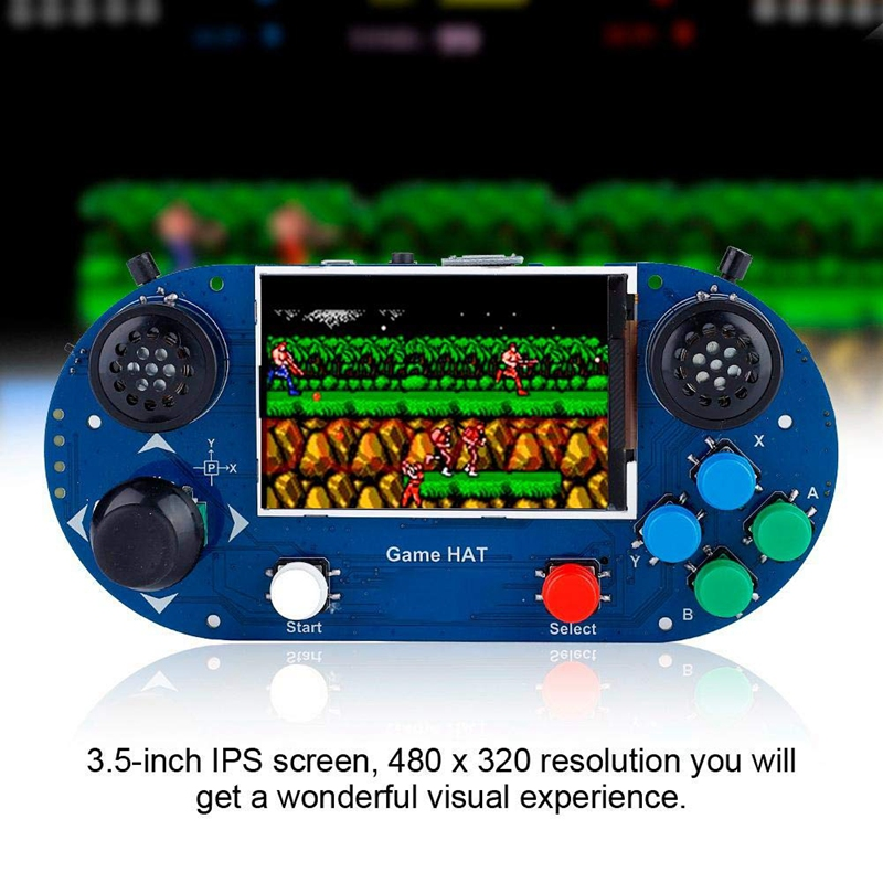Game Console 3.5-Inch IPS Screen <font><b>480</b></font> X <font><b>320</b></font> Resolution Portable Handheld Retro Game Console for Raspberry Pi A+/B+/2B/3B/3B+ image