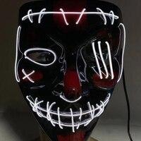 Halloween Party Masken LED Maske Licht Up Chrismas Kostüm Cosplay Glühende Maske Horror Mascarillas Glow In The Dark Unisex