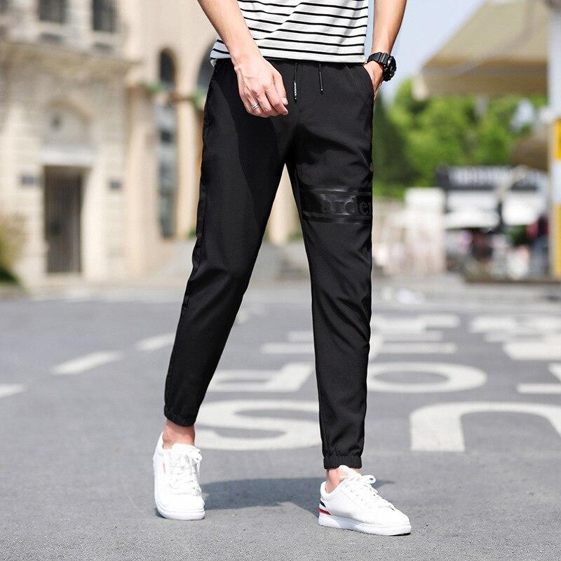 2019 Spring And Autumn Men New Style Teenager Loose-Fit Beam Leg Casual Pants Men's Korean-style Trend Capri Harem Pants Sub-