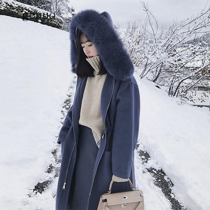 inverno feminino natural gola de pele de