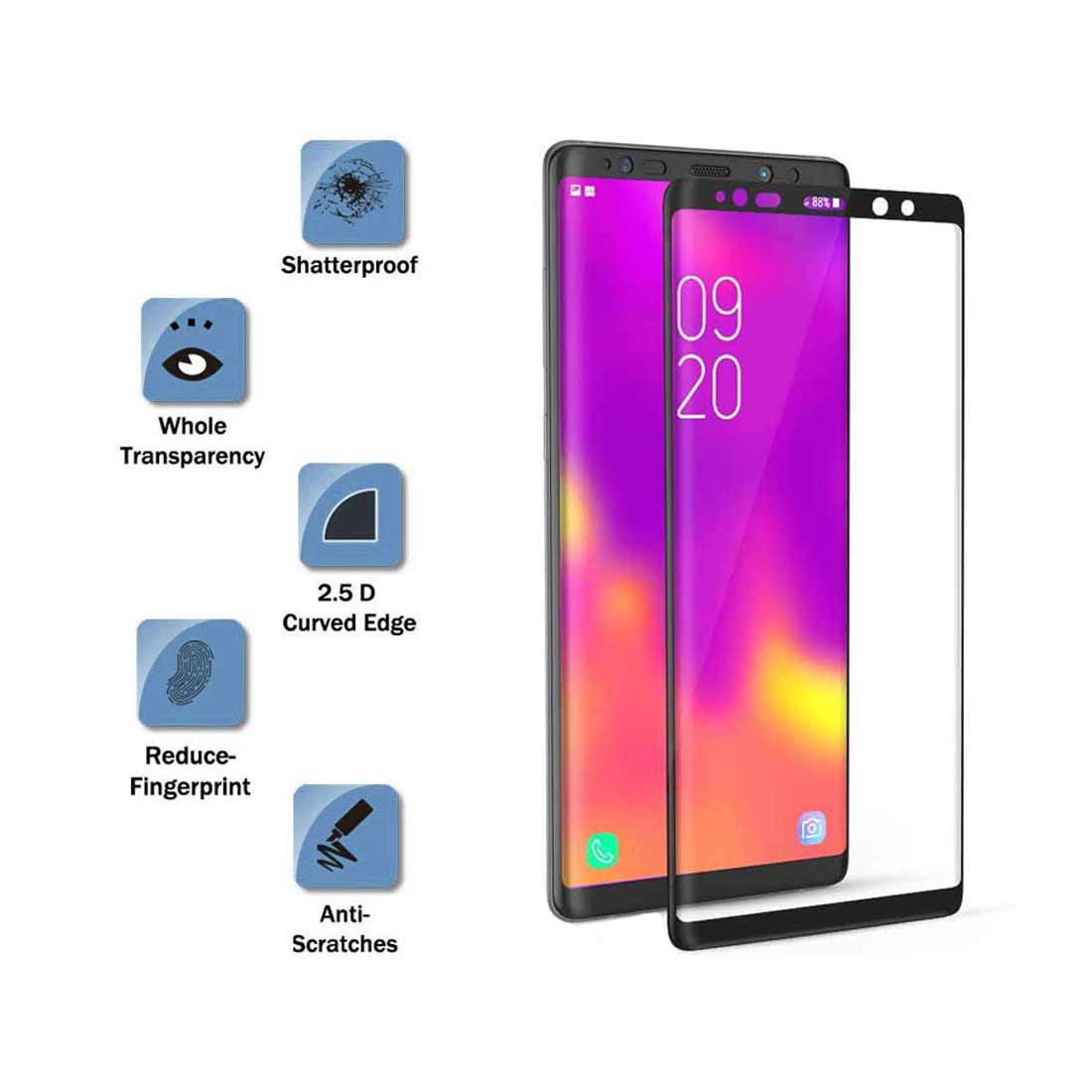 9D Full Cover Tempered Glass Film For Samsung Galaxy Note 8 9 S10 S10e Screen Protector  For Samsung S10 Plus S10